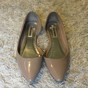 Nude Steve Madden Faux Leather Flats